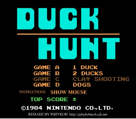 Spel på 80-talet - Duck hunt