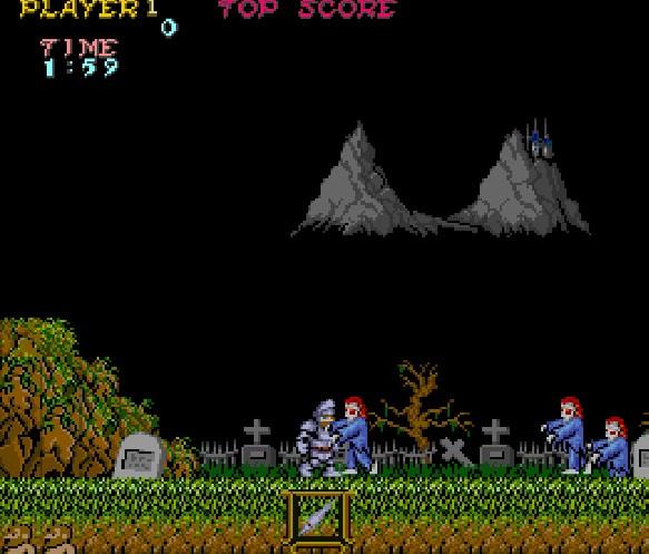 Spel på 80-talet - Ghost n goblins