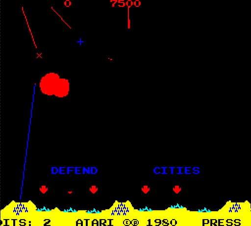Spel på 80-talet - Missile command